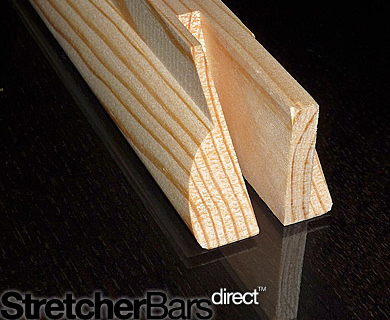 Close up photo of a stretcher bar